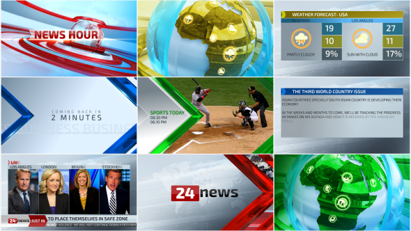 News package – Complete Branding (News) After Effects Templates | F5