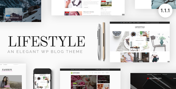 Lifestyle - Responsive WordPress Blog Theme