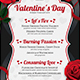 Valentines Day Menu Template V8 - GraphicRiver Item for Sale