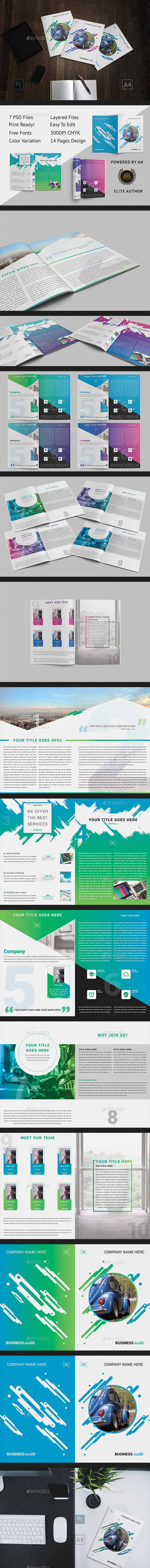 Brochure - GoDesign Bi-Fold Template - Corporate Brochures