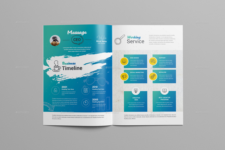 BiFold Brochure Template By Generousart GraphicRiver - Bi fold brochure templates