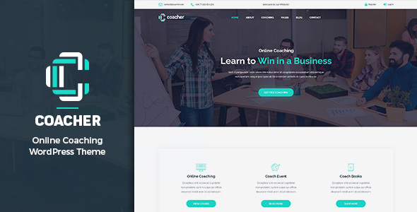 Coacher - Trainers & Life Coaching WordPress Theme - Education WordPress