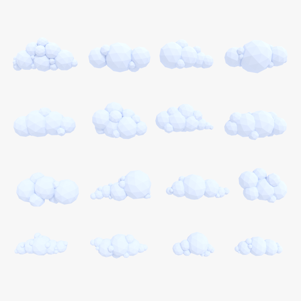 LowPoly Clouds Pack - 3DOcean Item for Sale