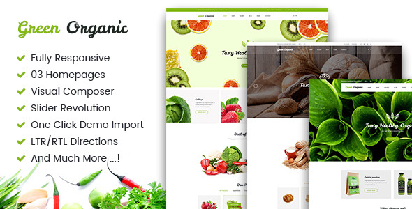 Green Organic - Organic Store & Bakery WooCommerce WordPress Theme