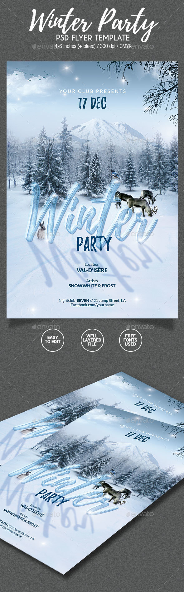 GraphicRiver Winter Party Flyer 20865930