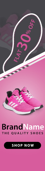 Set of Shoes  Banner Ad Animated HTML5  (Animate CC)