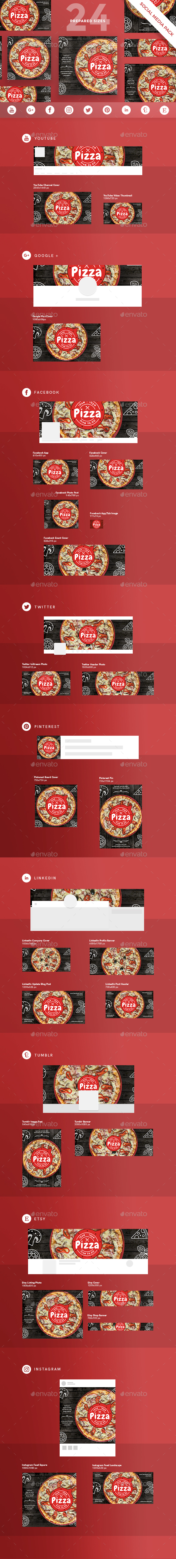 Pizza Social Media Pack - Miscellaneous Social Media