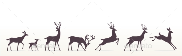GraphicRiver Deer Set 20866403