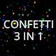 Confetti 3 in 1 - VideoHive Item for Sale