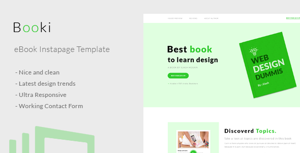 ThemeForest Booki Instapage Book Landing Page 20866600
