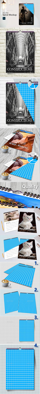 Spiral Calendar Mockup - Print Product Mock-Ups