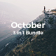 October Bundle - 3 in1 Creative Keynote Template - GraphicRiver Item for Sale