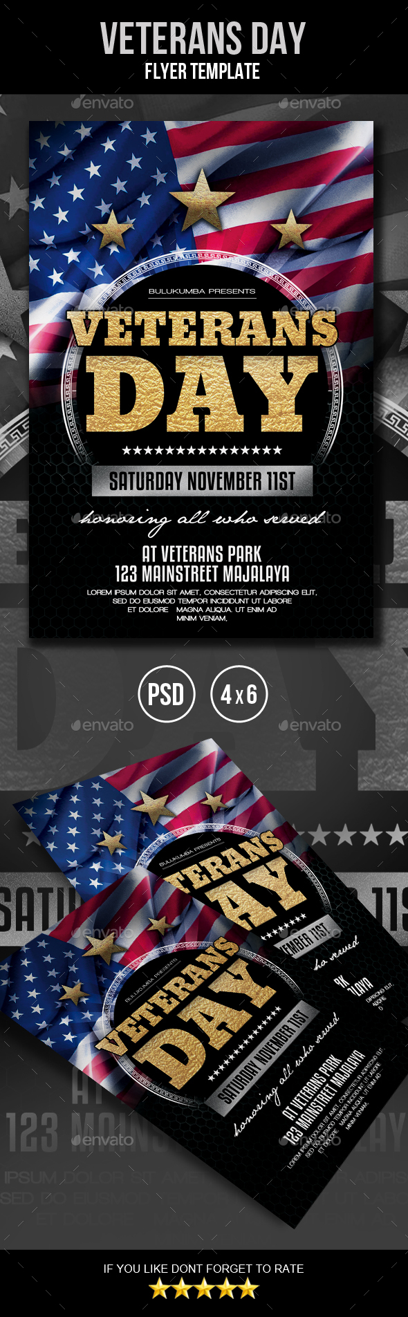 GraphicRiver Veterans Day Flyer 20867565