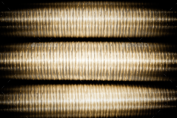 metal duct pipes - Stock Photo - Images