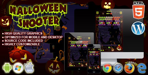 Halloween Shooter HTML5 Game