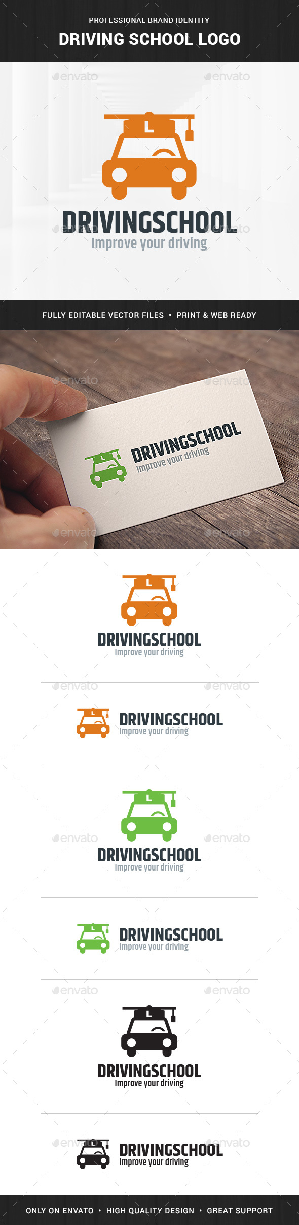 Driving School Logo Template by LiveAtTheBBQ | GraphicRiver