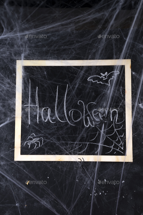 Chalkboard on a black background - Stock Photo - Images