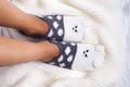 Socks in the form of a kitten