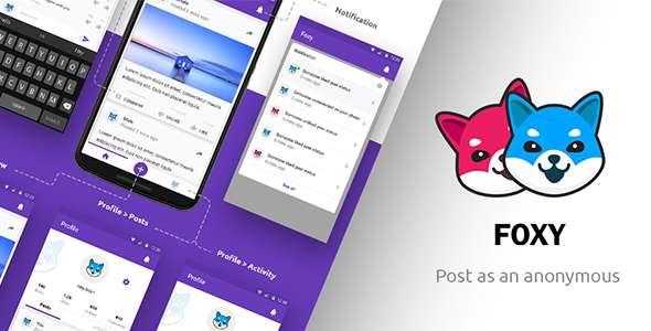 CodeCanyon Anonymous Social Network Android App Foxy 20868014