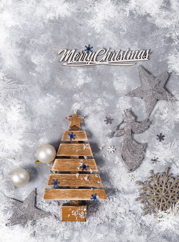 New year or Christmas background. - Stock Photo - Images