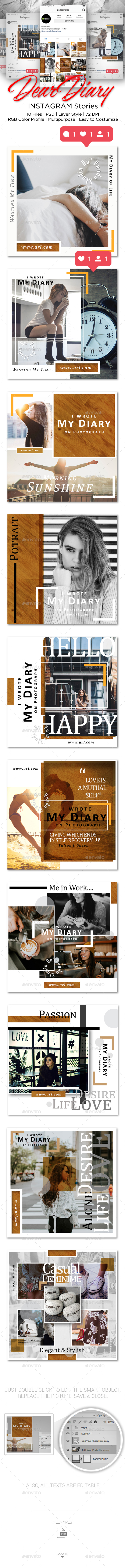 GraphicRiver PSD Dear Diary Instagram Stories 20868176