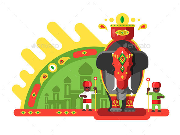 GraphicRiver Traditionally Decorated Indian Elephant 20868172