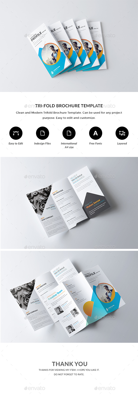 GraphicRiver Trifold Brochure 20868315