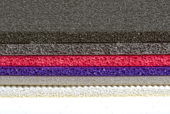 Polyethylene Foam Multi Colour and type Material Shockproof Closed Up - Stock Photo - Images