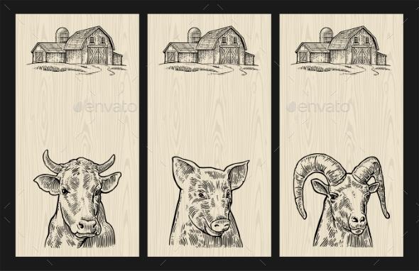 GraphicRiver Farm Animals Set 20868367