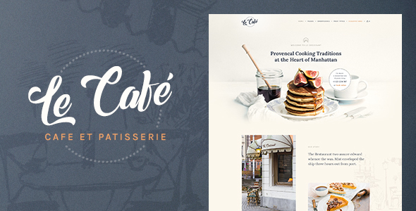 Image of Le Cafe - Bakery & Cafe WordPress Theme