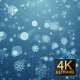 Snow Particles Blue Background - VideoHive Item for Sale