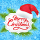 Banner with Hat of Santa Claus - GraphicRiver Item for Sale