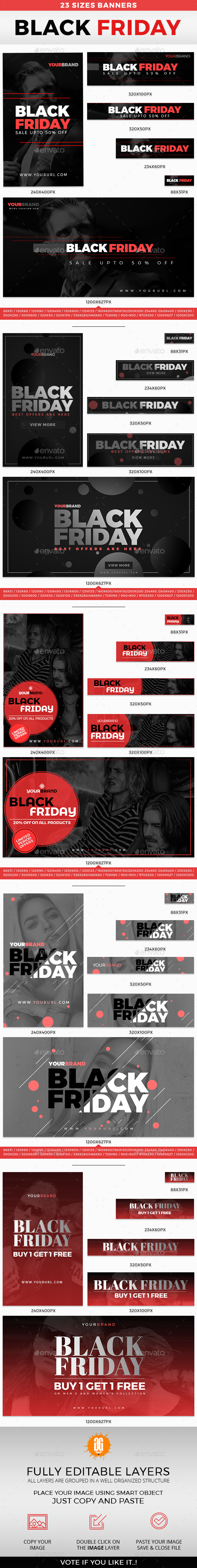 GraphicRiver 115 Black Friday Banner 20868539
