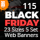 115 Black Friday Banner - GraphicRiver Item for Sale
