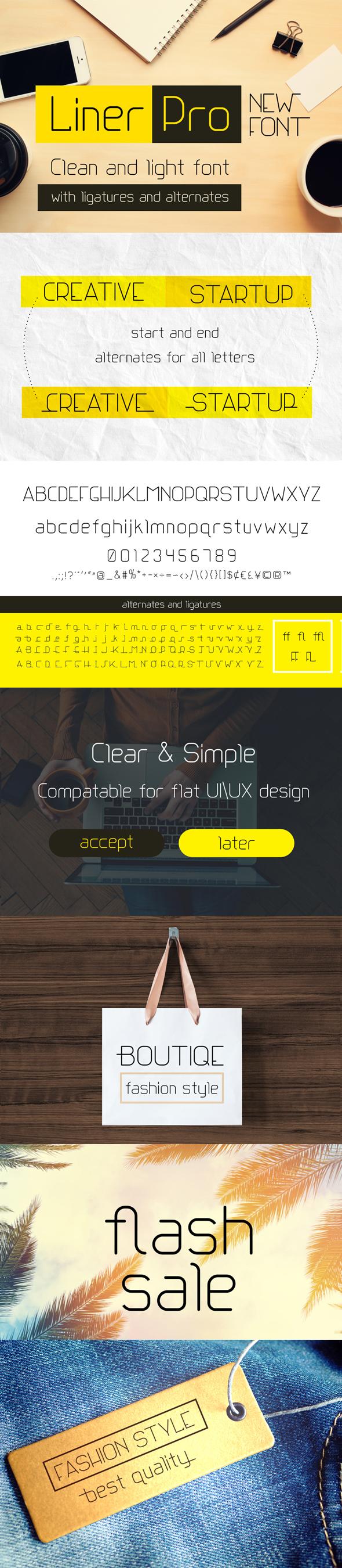 Liner Pro Font - Sans-Serif Fonts