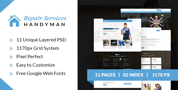 Repair Services - Handyman PSD Template