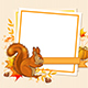 Autumn Background with Squirrel - GraphicRiver Item for Sale