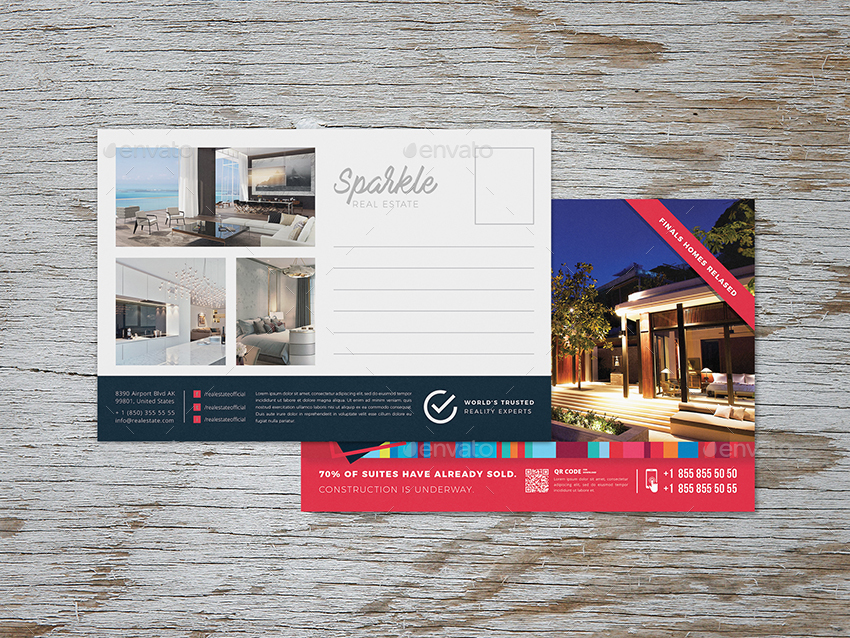 Sparkle - Real Estate Post Card Template