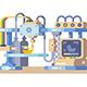 Printing Device Flat Design