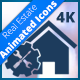 Real Estate Animated Icon Set | Alpha 4K - VideoHive Item for Sale