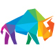 Bison Colorful Polygon Logo