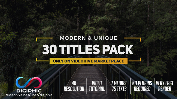 adobe after effects title templates free - titles by digiphic videohive