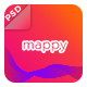Mappy App Landing PSD Template - ThemeForest Item for Sale