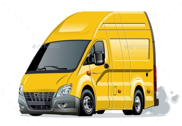 GraphicRiver Vector Cartoon Van 20868774