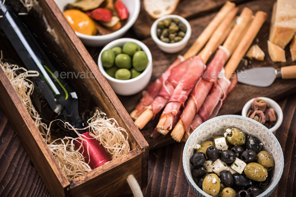 Tapas made for sharing at party or in bar - Stock Photo - Images