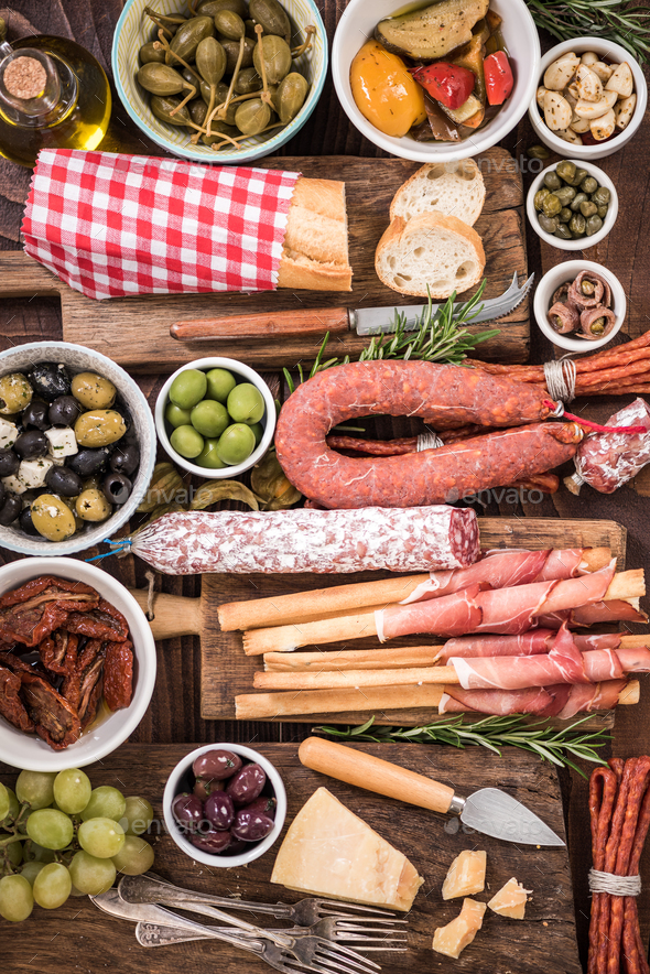 Food made for sharing with friends,spanish tapa - Stock Photo - Images