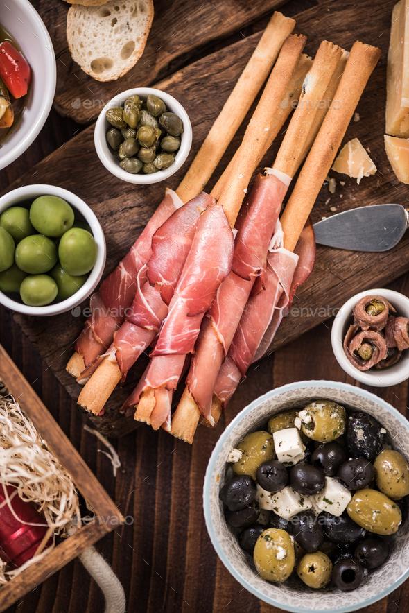 Regional spanish tapa apetizer in bar - Stock Photo - Images
