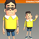 Rigged Cartoon Character with Animation