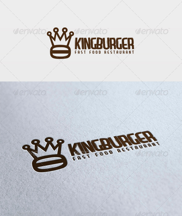 King Burger Logo - Food Logo Templates