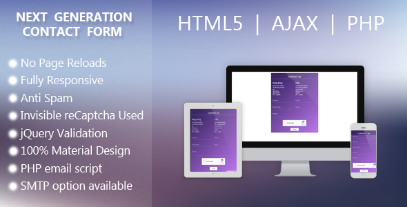Next Gen Contact Form - CodeCanyon Item for Sale